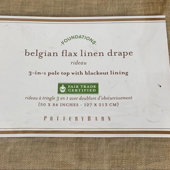 Pottery Barn Other - Pottery Barn1 Belgian Flax Linen Drape Panel